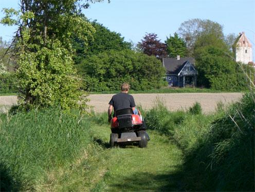 Varpelev vej park på vej hjem efter at have forberedt den fælles